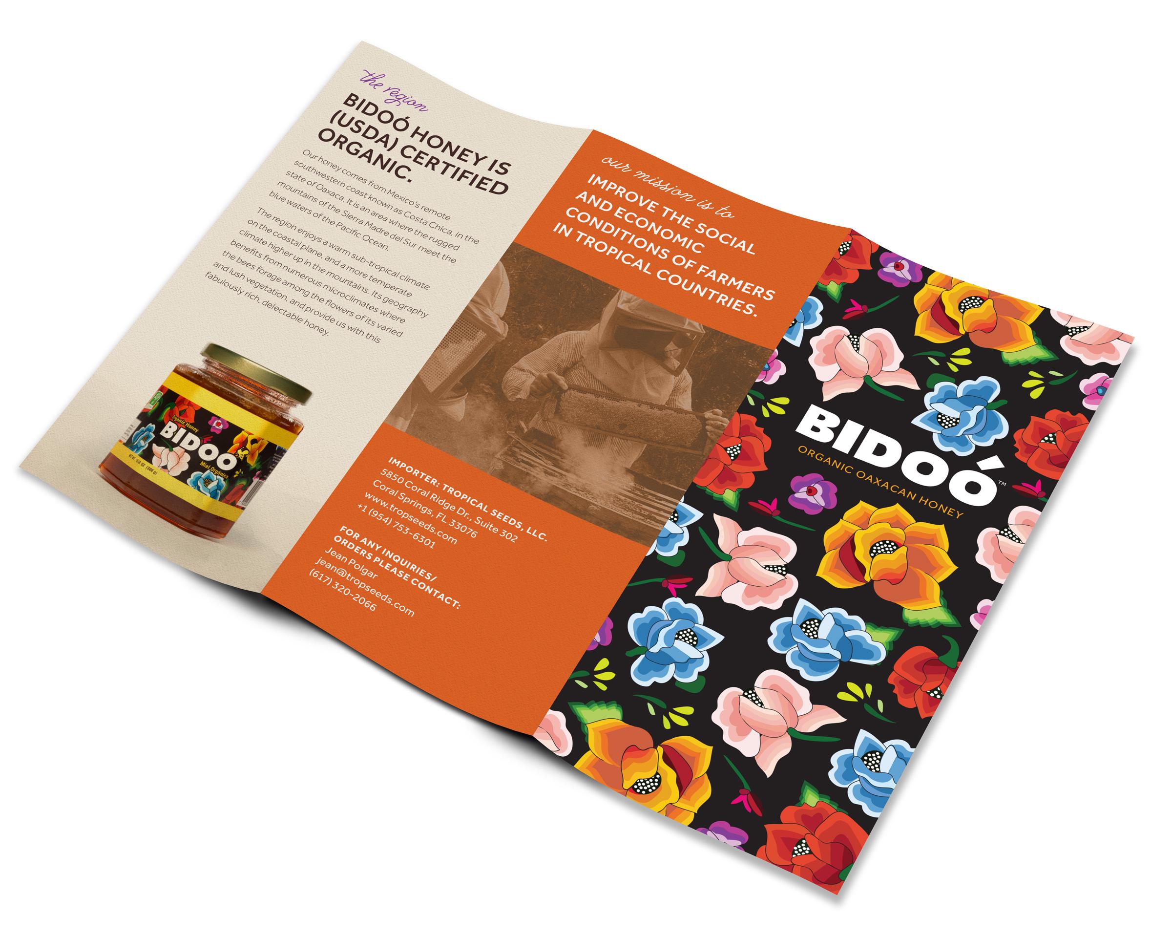 Bidoo Honey product brochure