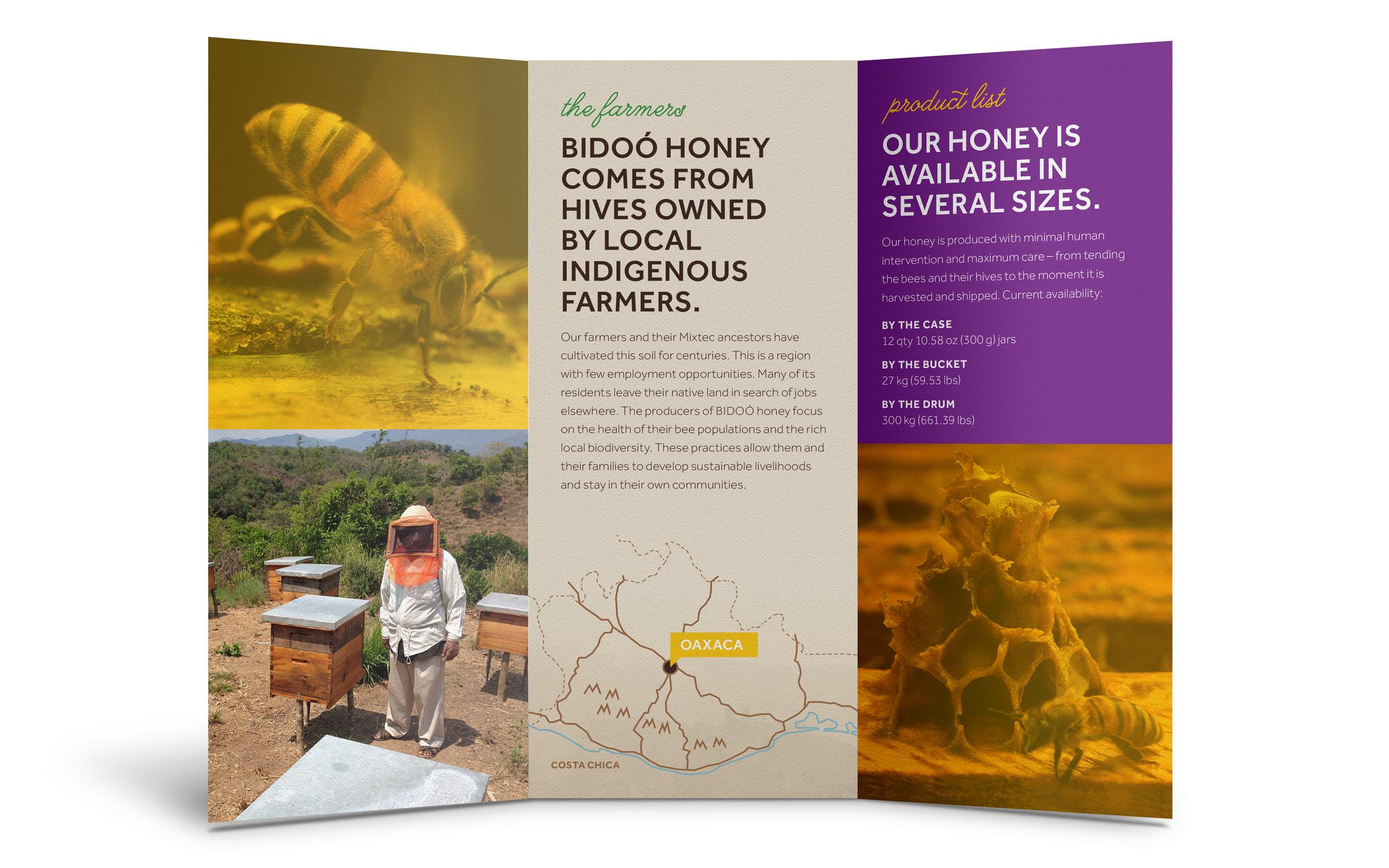 Bidoo Honey product brochure inside