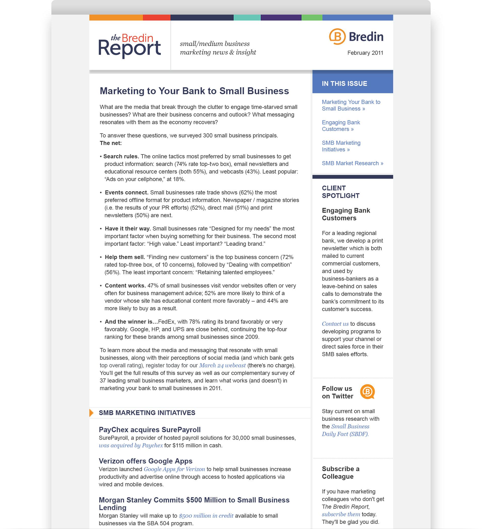 Bredin Newsletter