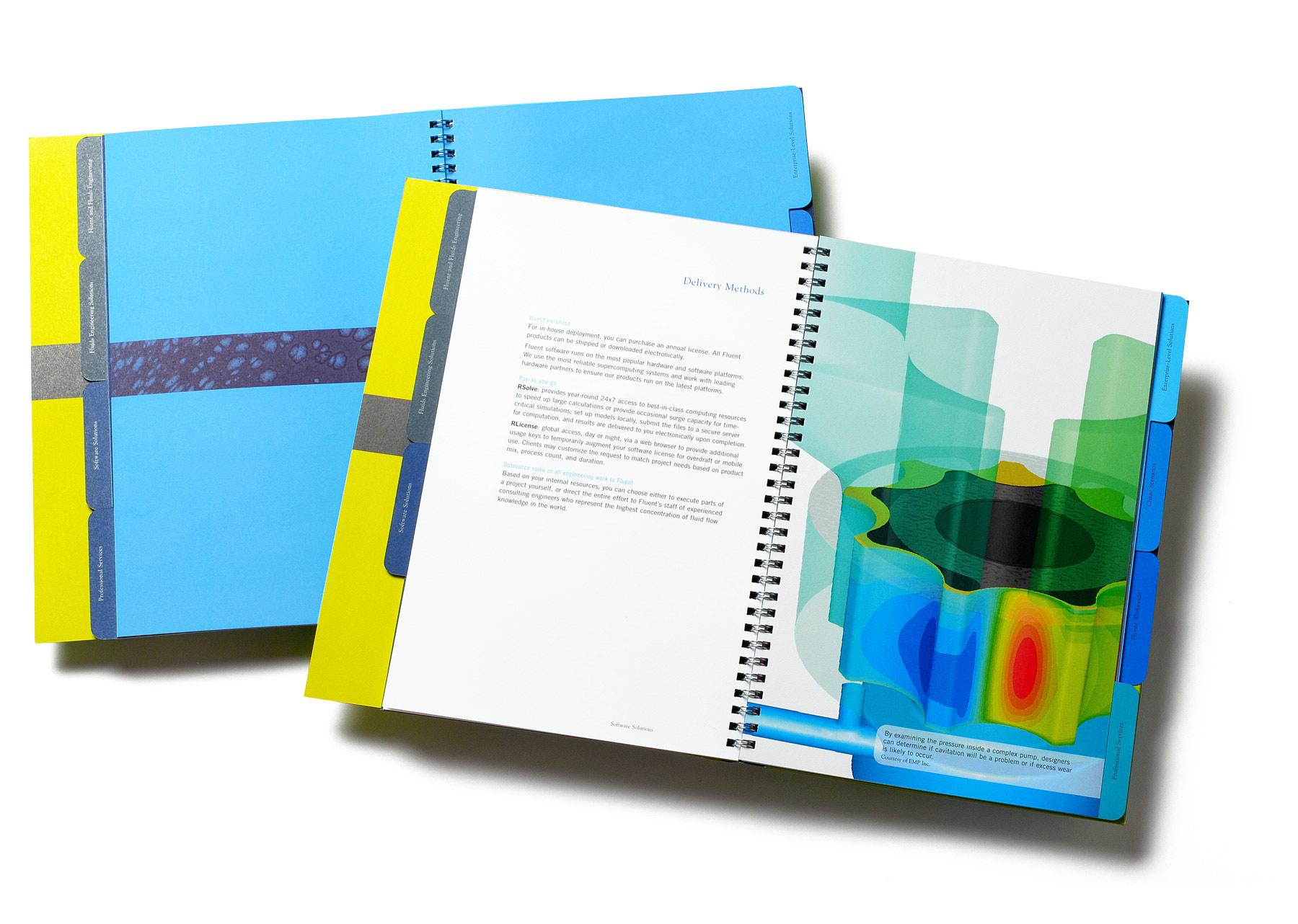 Fluent brochure spread