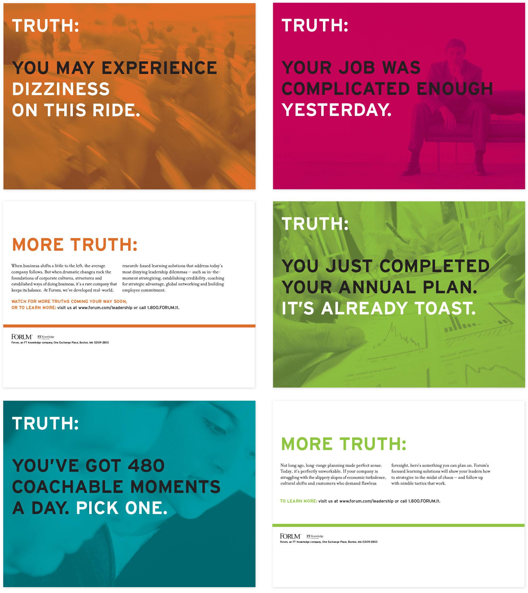 Forum Corporation direct mail campaign set