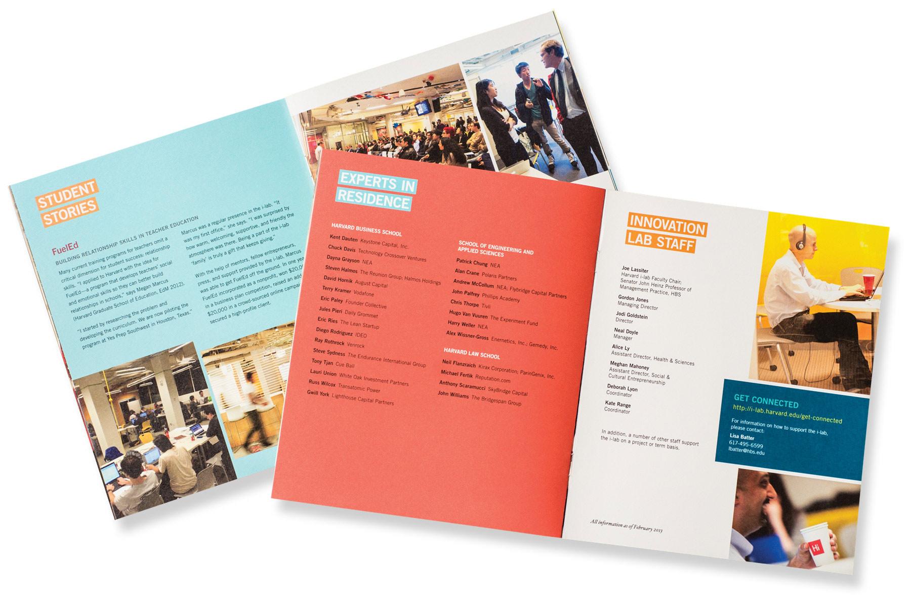 Harvard iLab brochure spread