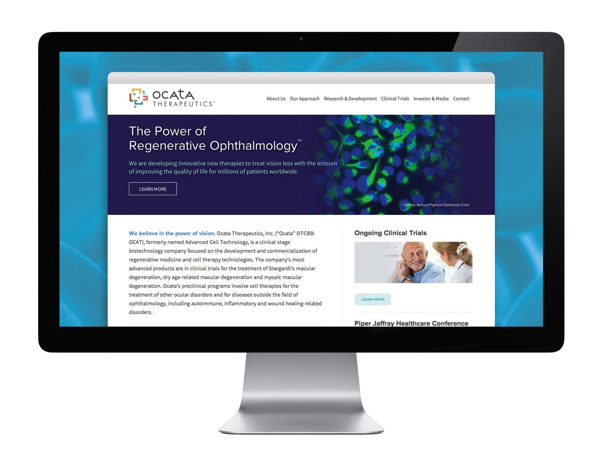 Ocata Therapeutics website