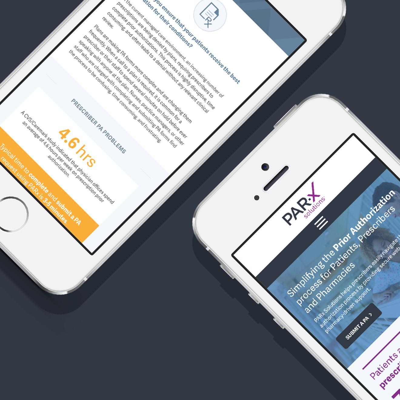 PARx Solutions responsive design website