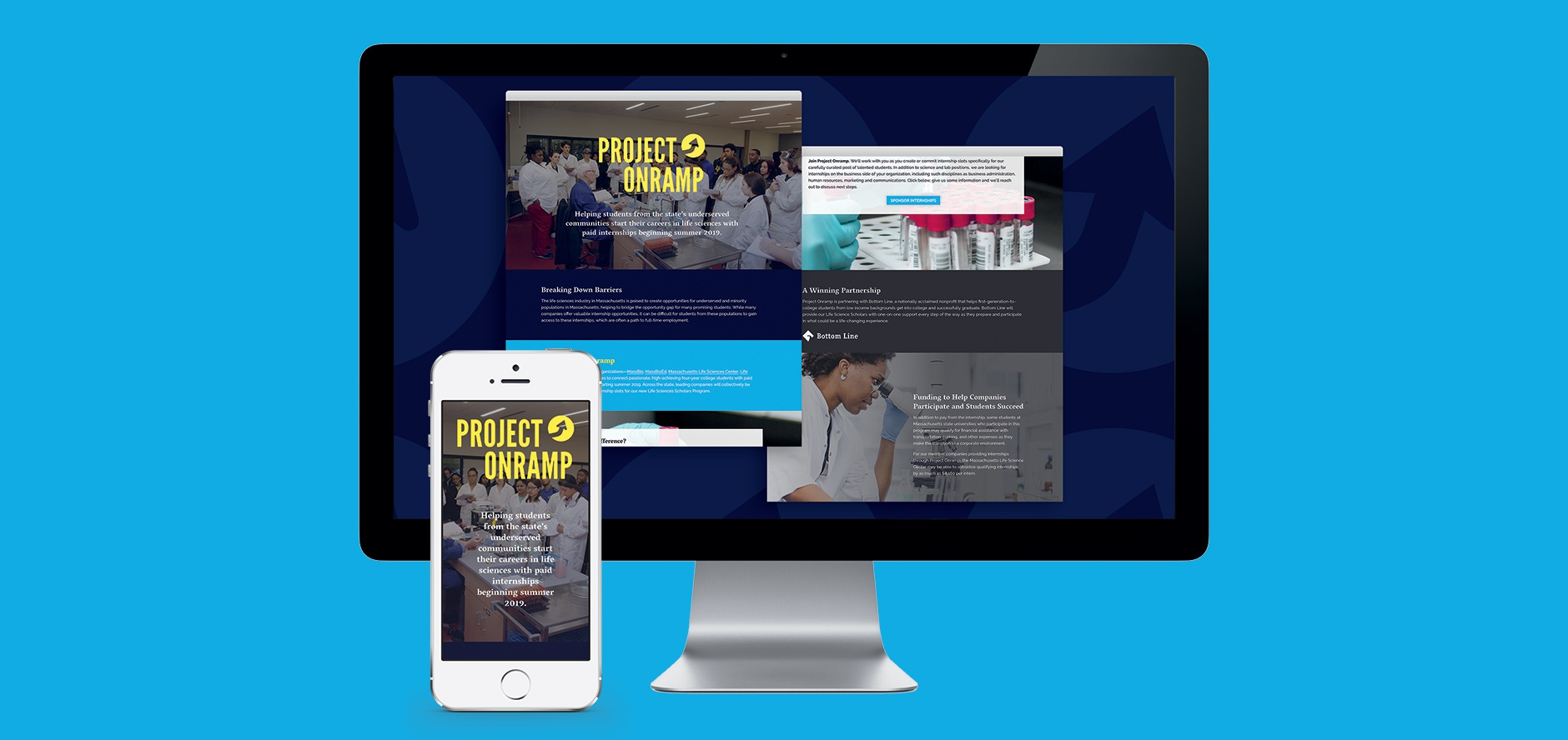 Nonprofit Project Onramp Website Launched Monderer Design
