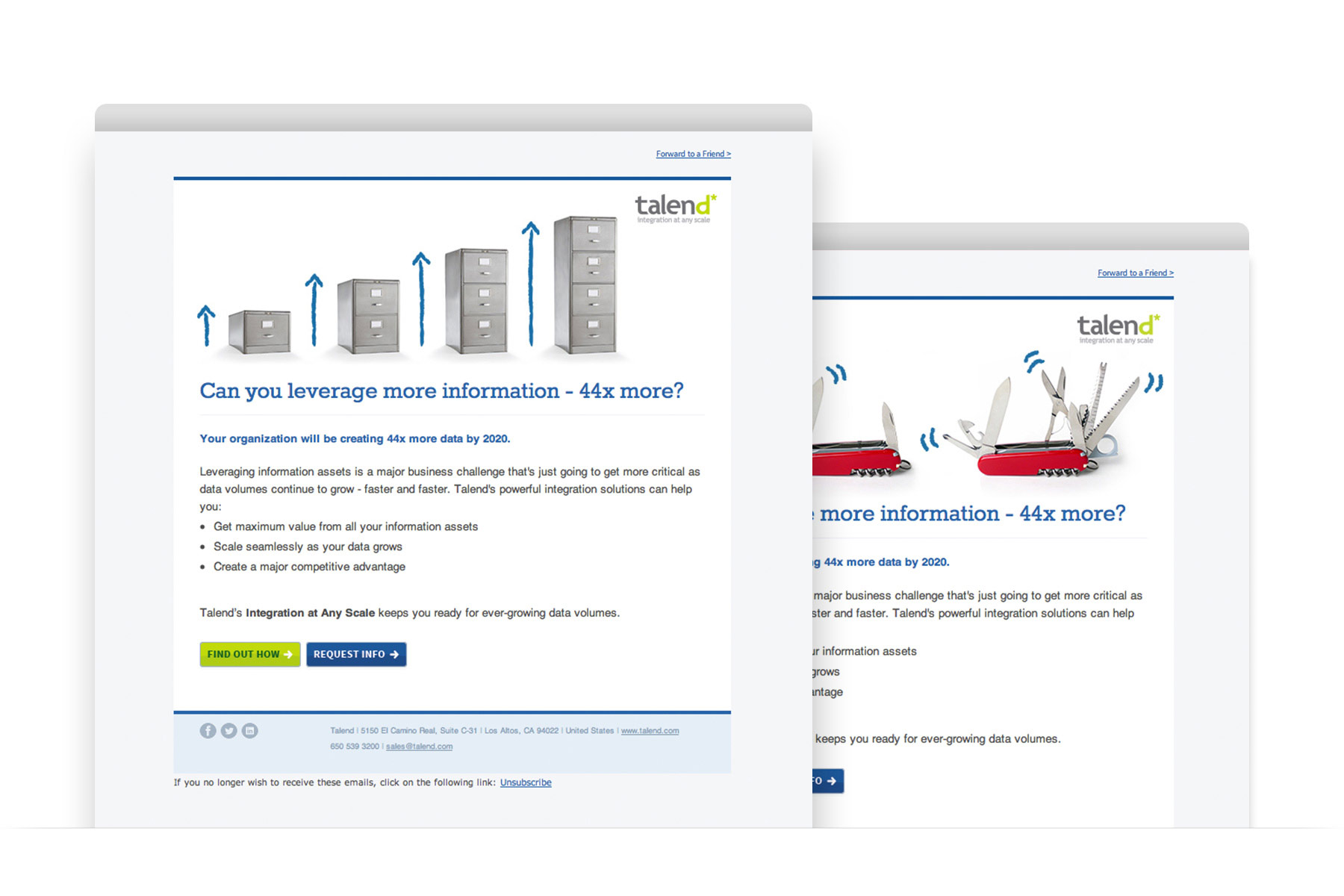 Talend HTML email campaign