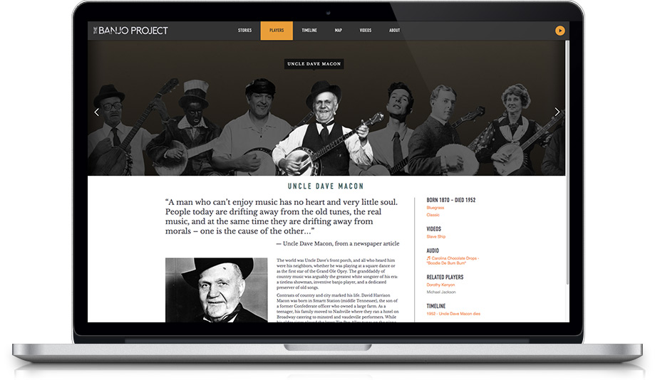 The Banjo Project website